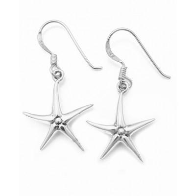 Κρεμαστά σκουλαρίκια αστερίας σε ασημί χρώμα από Ασήμι 925