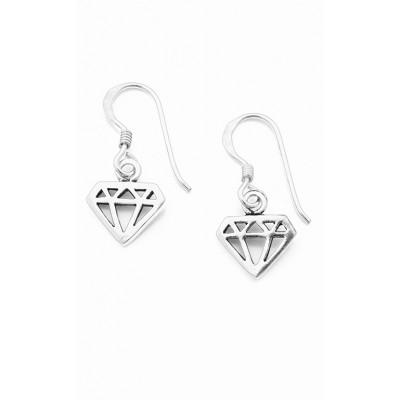 Κρεμαστά σκουλαρίκια διαμάντια σε ασημί χρώμα από Ασήμι 925