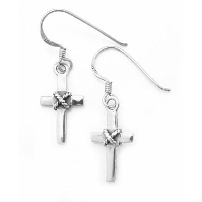 Κρεμαστοί σταυροί σε ασημί χρώμα από Ασήμι 925