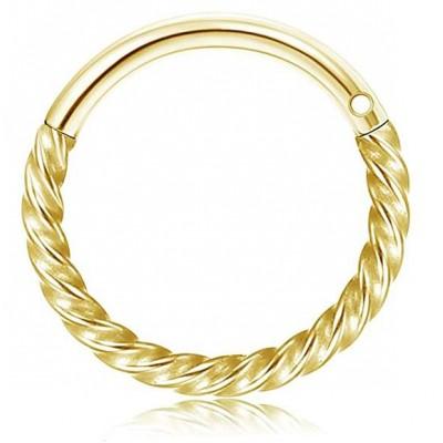 Segment Ring Piercing Clicker - Χρυσό στριφτό κρικάκι μεντεσέ από Χειρουργικό Ατσάλι