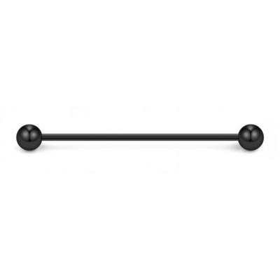 Piercing 1.6 mm industrial σε μαύρο χρώμα από Χειρουργικό Ατσάλι
